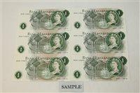 Lot 26 - Banknotes - G.B. QEII. Series 'C' Hollom (Feb....