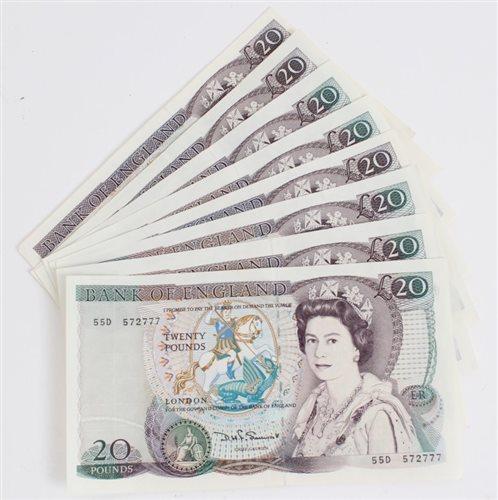 Lot 29 - Banknotes - G.B. QEII. Somerset Twenty Pound...