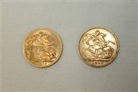 Lot 33 - G.B. gold Sovereigns - Edward VII 1908. GF and...