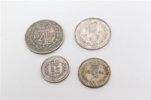 Lot 49 - G.B. Maundy oddments, etc - to include George...