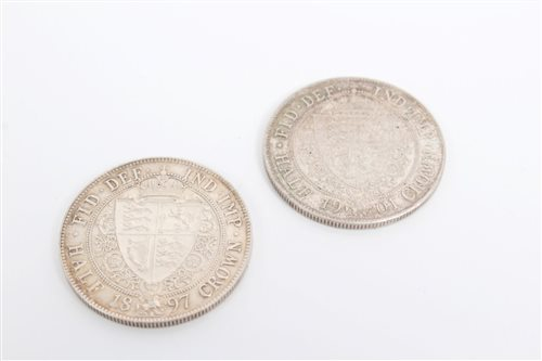 Lot 50 - G.B. Victoria O.H. Half Crowns - 1897 and 1901....