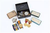 Lot 509 - First World War pair - comprising War and...