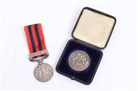 Lot 500 - Victorian Indian General Service Medals with...