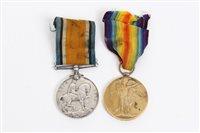 Lot 502 - First World War pair - comprising War and...