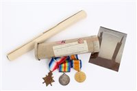 Lot 503 - First World War casualty trio - comprising...