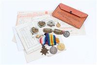 Lot 504 - First World War 1914 - 1915 Star trio -...