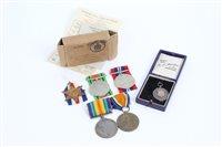 Lot 508 - First World War pair - comprising War and...