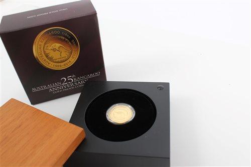 Lot 88 - Australia - 25th Kangaroo Anniversary Gold...
