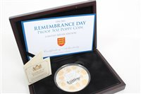 Lot 90 - Jersey - Remembrance Day £10 Silverer Proof...
