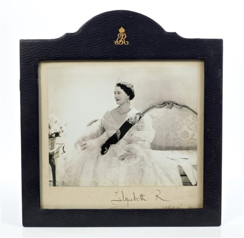 Lot 1-HM Queen Elizabeth The Queen Mother - fine signed ...