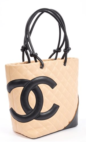 Lot 3164-Chanel 'Camerasbon' quilted tote bag - beige and...