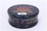 Lot 2000 - Moorcroft pottery circular pot and cover...
