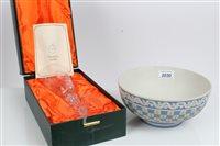 Lot 2030 - Wedgwood limited edition Jasper ware bowl,...