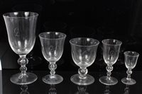 Lot 2031 - Fine quality English blown glass table service...