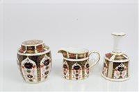 Lot 2037 - Royal Crown Derby Imari ginger jar and cover,...