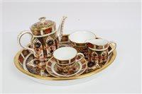 Lot 2038 - Royal Crown Derby Imari miniature tea set -...
