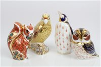 Lot 2041 - Four Royal Crown Derby Imari paperweights -...