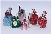 Lot 2051 - Seven Royal Doulton figures - Lady Charmian...