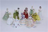 Lot 2052 - Nine Royal Doulton figures - Daydreams HN1731,...