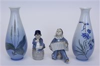 Lot 2056 - Two Royal Copenhagen figures - boy with...