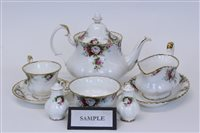 Lot 2060 - Royal Albert Celebration pattern tea and...