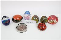 Lot 2082 - Collection of various paperweights (qty)