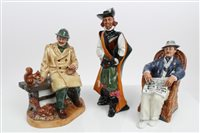 Lot 2066 - Three Royal Doulton figures - Lunchtime HN2485,...