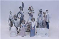 Lot 2070 - Selection of Lladro porcelain figures -...