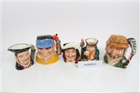 Lot 2074 - Twenty-one Royal Doulton character jugs -...