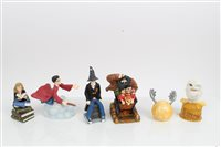Lot 2088 - Six Harry Potter figures - Harry and Hagrid at...