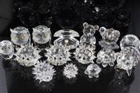 Lot 2093 - Group of Swarovski crystal ornaments -...