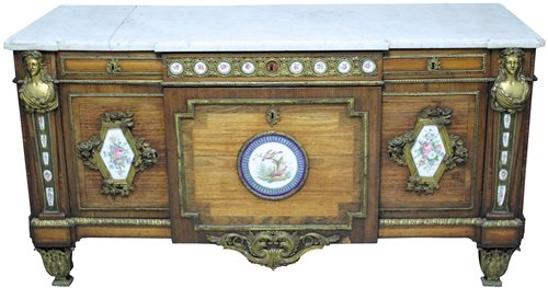 Lot 1258-Fine French Louis XVI kingwood, ormolu and...