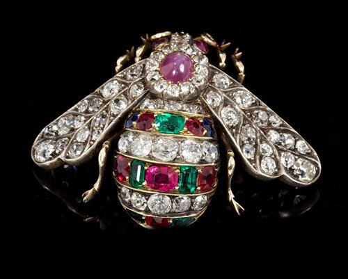 Lot 461-Fine large late Victorian diamond and gem set...