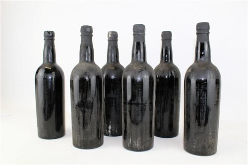 Lot 1581-Port - six bottles, Taylor Oporto 1955 (lacking...
