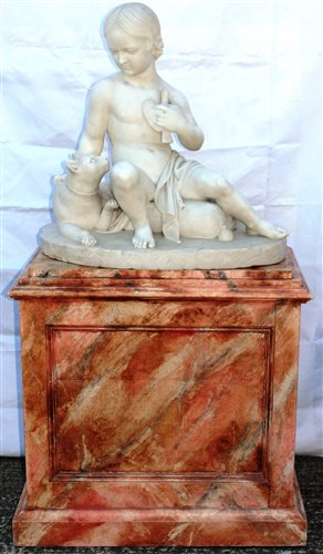 Lot 669-Good mid-19th century white marble sculpture...