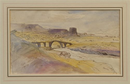 Lot 1125-Edward Lear (1812 - 1888), pen, ink and...
