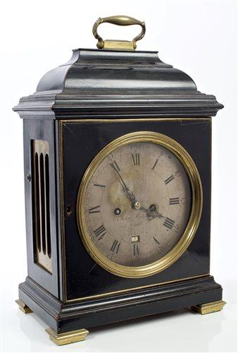 Lot 1251-George III bracket clock, by John Waldren,...