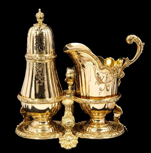 Lot 450-Important Asprey Gold (18ct) Strawberry Set -...