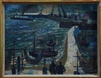 868 - Henry Collins (1910-1994) oil on board -...