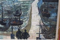Lot 868-Henry Collins (1910-1994) oil on board -...