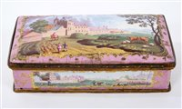 Lot 690 - Fine 18th century French enamel desk stand of...
