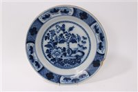 Lot 16-Mid-18th century Dutch Delft blue and white...
