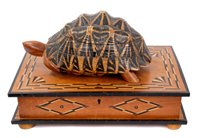 Lot 723 - Highly unusual antique satinwood and marquetry...
