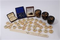 Lot 717 - Collection of thirty-two Chinese carved ivory...