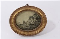 Lot 709 - Rare George III hair picture depicting a...