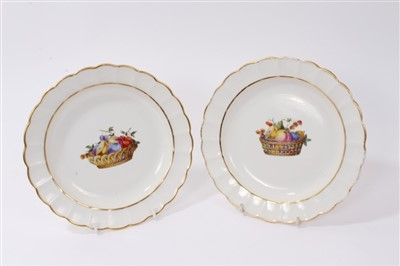 Lot 23-Pair late 18th century Derby plates - probably...