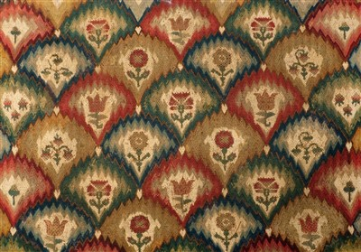 Lot 736 - Early 18th century woven panel with stitched...