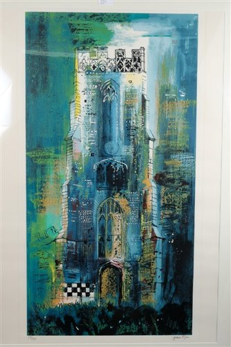 1082 - John Piper (1903-1992) screenprint in colours...