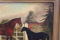 Lot 1055-John Vine of Colchester (1809-1867) oil on...