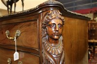 Lot 1215-Fine Edwardian Chippendale revival carved...